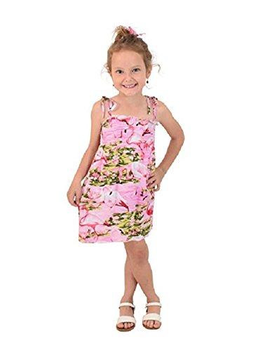 ISLAND STYLE CLOTHING Girls Tube Dress Pink Flamingo Party (Clothing Optional Galleries)