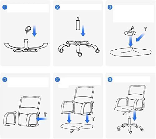DBL andningsbar nätväv kontorsstol, ergonomisk bekväm svängbar höjd justerbar gaslyft verkställande personalstol kontorsstol skrivbordsstolar (storlek: svart)