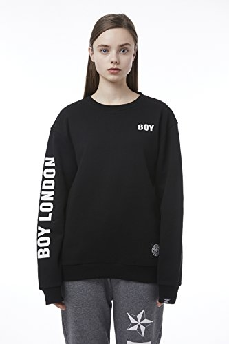BOY London Unisex (S,M,L,XL) 18SS Over-Sized Sweatshirt - Black,White_(BH1SS108) (Black, XLarge) by BOY London