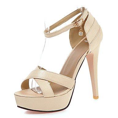 LFNLYX La mujer sandalias verano zapatos Club D'Orsay & Dos piezas polipiel boda vestido de noche y Stiletto talón Rhinestone BuckleBlack rojo Black