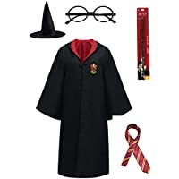 batubatu Harry Potter Unisex Costume Robe Cape and Accessories Size 100-180 cm for Adults Kids Boys Girls and Teenagers