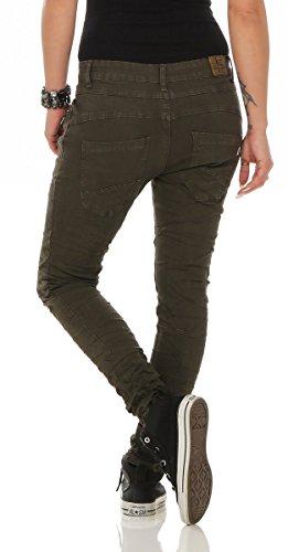 Fashion4Young Jeans 36 Femme bleu noir Vert CxfYq