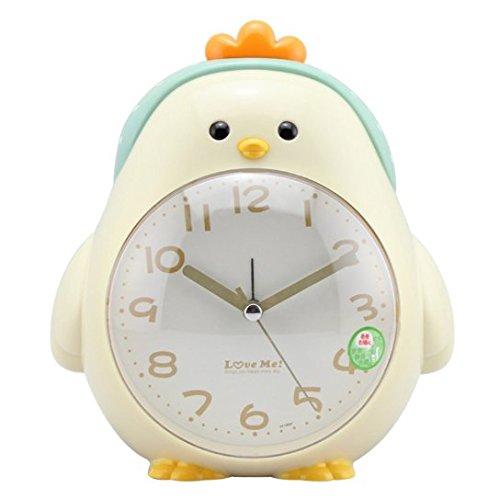 Price comparison product image URbeauty 1Pcs Fashion Silent Night Light Cartoon Chicken Desktop Clock Alarm Clock Children Bedroom