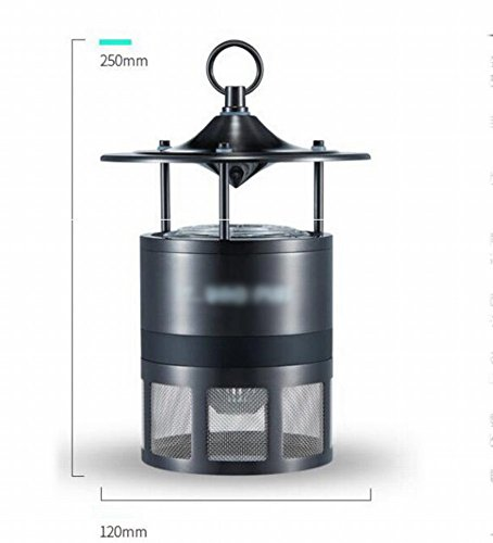 DIDIDD Anti-Mosquito Lamp Carbon Dioxide Outdoor Household Mosquito Lamp Radiation-Free Electric Mosquito Trap Mosquito Mosquito Mosquito Outdoor Artifact,Black