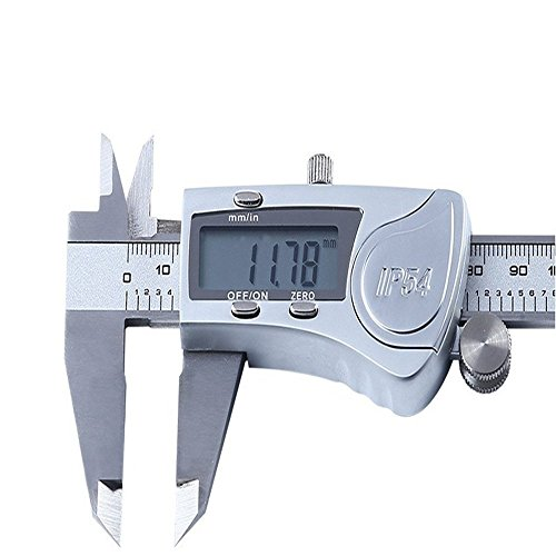 DZnNN Electronic Digital Caliper 6 inch - Full Stainless Steel IP54 Water Resistant Metal Conversion Vernier Caliper Measuring Tool with LCD Screen by DZnNN (Image #7)
