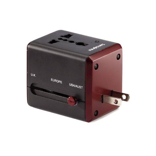 Samsonite Worldwide Power Adapter, Black/Red