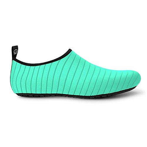 JOINFREE Damen Herren Kid Sommer Wasser Schuhe Barfuß Schuh Quick Dry Aqua Socken Yoga Linie grün