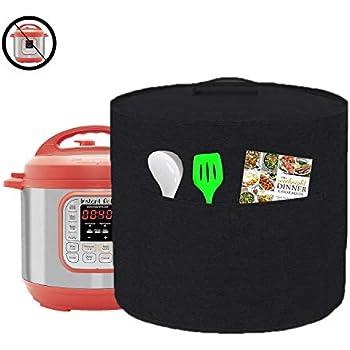 Appliance Cover Dust Cover Watetproof for 8 Quart Instant Pot,Electric Pressure Cooker,Rice cooker,Air Fryer and Crock Pot, Machine Washable (For 8 Quart Instant Pot, Black)