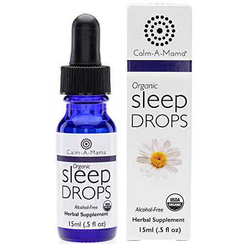 Calm-a-Mama Organic Sleep Drops for Pregnant Women, Nursing Moms & Babies - 0.5oz / 15ml Natural Sleep Remedies - Plant-Based Sleep Relief Drops Made in The USA with Chamomile Extract