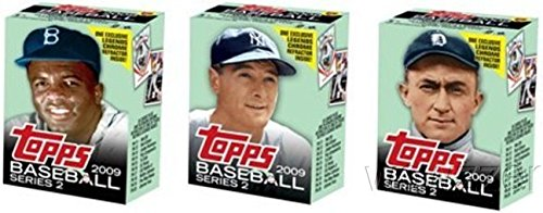 2009 Topps MLB Series 2 Cereal 3 Box Set-Gehrig,Cobb,Jackie Robinson+REFRACTORS! ()