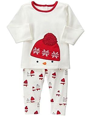 Baby White Snowman Set