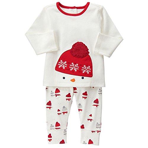 Gymboree Baby White Snowman Set, Jet Ivory, 0-3