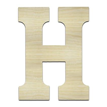 b31af390d95 Unfinished Wooden Letters (H - ETA 12