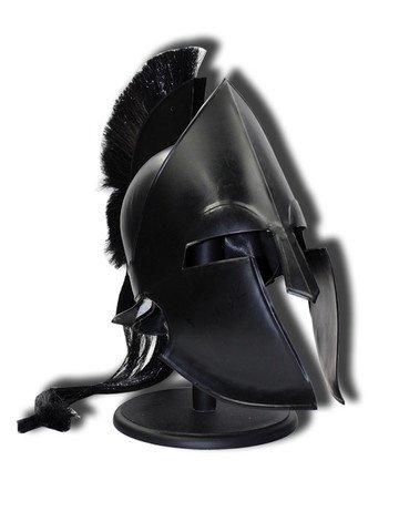 300 Leonidas Spartan Helmet Greek Trojan Achilles Black -