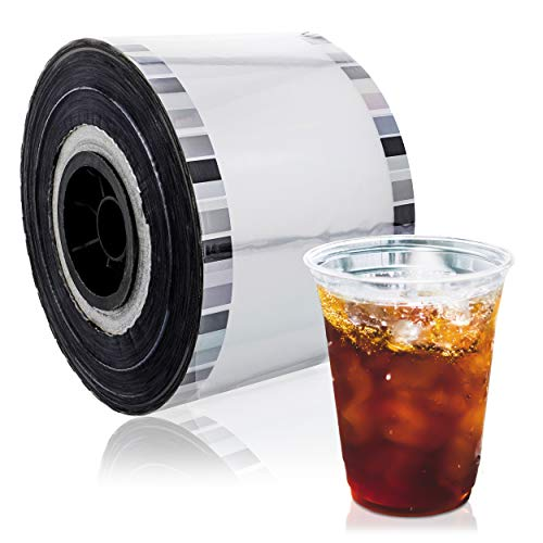 Juvale Clear Cup Sealer Film for Bubble Boba Tea, Fits 3.5-4.2 Inch Diameter Cups, 1300 Feet (Cup Sealer Film)