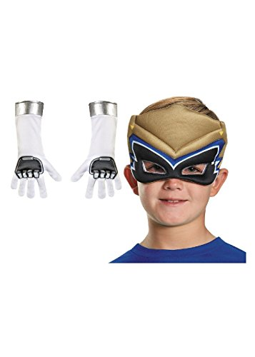 Gold Ranger Dino Charge Costume (Gold Power Rangers Dino Charge Boys Mask And Gloves Set)