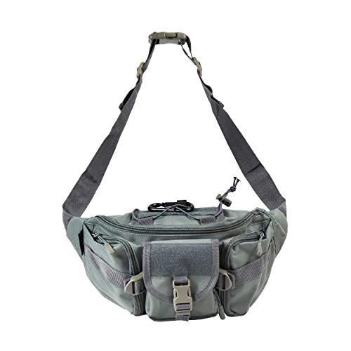 Osage River Fishing Tackle Bag Waist Fanny Pack - Cadet Grey (Best Fly Fishing Waist Pack)