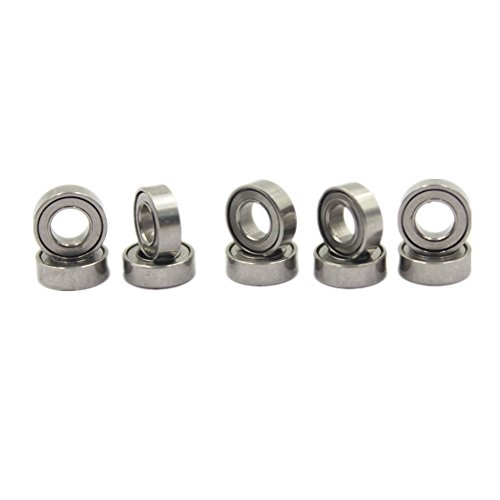 Hobbypark 10pcs Micro Ball Bearings 3x6x2mm Metal Shielded for RC Car Quadcopter Helicopter Replace Traxxas - 6642