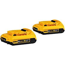 DEWALT DCB203-2 20V Max Compact XR Li-Ion Compact Battery; 2-Pack - (Renewed)