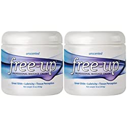 Free-Up 812082810114 Professional Massage Cream 16 oz. Unscented (Pack of 2)