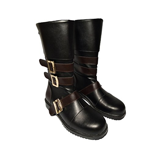 COSKING Yorha No.9 Type S Cosplay Shoes for Men, 9S Costume Boots for Halloween