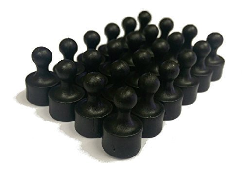 Black Magnets (24 Tuxedo Black Magnetic Pins, Pawn Style - Perfect for Fun Fridge Magnets, Whiteboards, Cabinets, Photo Magnets For Refrigerator, and More!)