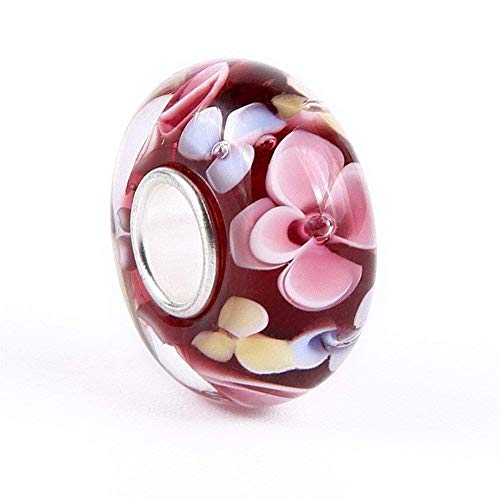 Red Hawaii Murano Glass and Sterling Silver Bead Charm