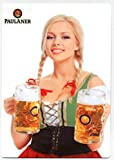 girl beer signs - Paulaner Bier - Beautiful Blonde German Girl METAL Beer Sign - Oktoberfest