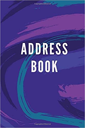amazon com address book purple design for contacts addresses