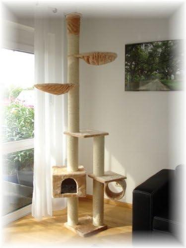 Rascador Árbol para gatos Blue Velvet XXL, Techo Alto, especialmente grosor Sisal troncos de 12 cm de diámetro, Gastos de Envío libre Alemania + Suiza: Amazon.es: Productos para mascotas