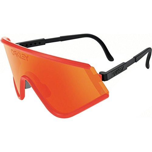 Oakley Mens Eyeshades Sunglasses, Red/Fire Iridium, One - Oakley Lenses Eyeshade