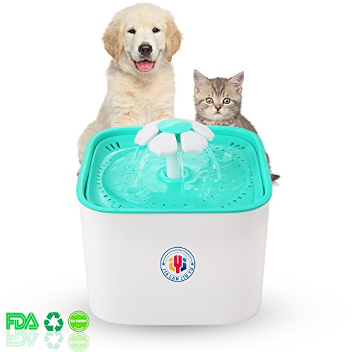 Pet Water Fountain Cat Dogs Water Dispenser Healthy and Hygienic Drinking Fountain 2L Super Quiet Flower Automatic...