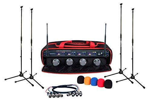 VocoPro UHF5800XL 4 Channel Uhf Wireless Mic Satellite Radio