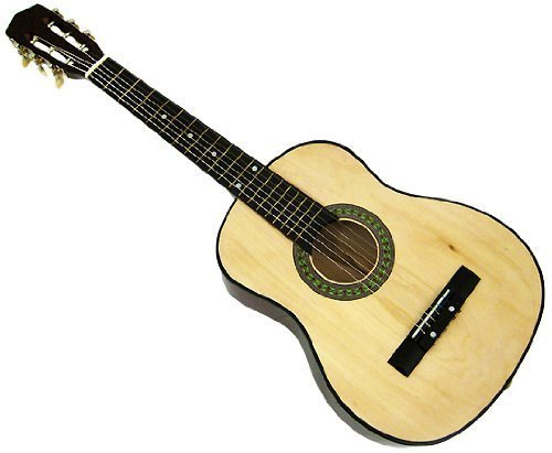 """32"""" Inch 1/2 Half Size NATURAL Kids Acoustic Toy Guitar &..."""