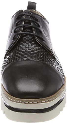 Donna Up Lace nero Nero O'polo Shoe Marc Scarpe Oxford Stringate xv70n4