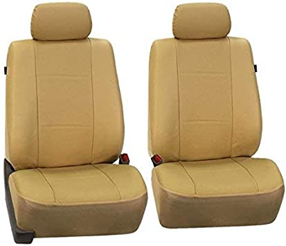 Beige Leather Look Front Seat Covers For BMW 5 SERIES GT