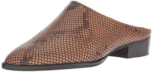Dolce Vita Women's AVEN Mule, Brown Snake Embossed Leather, 6.5 M US