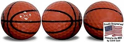 GBM Golf Basketball Golf Balls 3 Pack With Custom Full Wrap Imprint