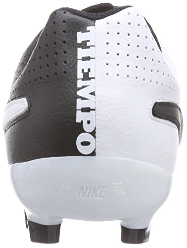 Leather Genio Unisex Boots Kids' Black Ground Football Black White Nike Firm Tiempo pEwqa6