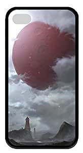 iPhone 4 4s Cases & Covers - Red Planet Custom TPU Soft Case Cover Protector for iPhone 4 4s - Black