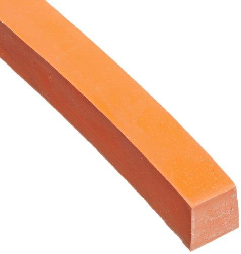 Silicone Sponge Rubber Sheet, No Backing, Medium-Firm Density, Textured, AMS 3195, Orange, 0.062