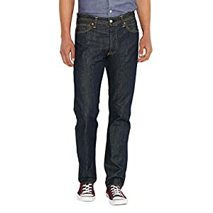 Levi's Mens 501 Regular Straight-Leg Denim Jeans Blue Size 31 Length 32 (Us)