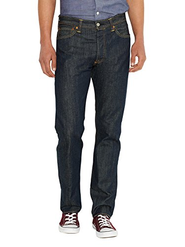 Cotton Denim Mens Jeans - Levi's Mens 501 Regular Straight-Leg Denim Jeans Blue Size 36 Length 36 (Us)
