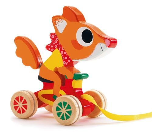 Djeco / Scouic Wooden Squirrel Racer Pull Toy