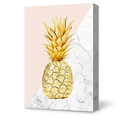 Magnificent Object of Art, Made With Top Quality, Pineapple Painting Wall Poster Decor for Living Room Wooden Framed