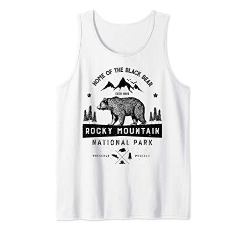 Rocky Mountain National Park Vintage Colorado Bear Men Women Tank Top