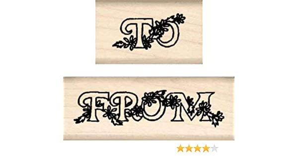 2 pc. Set Stamps by Impression ST 0818 to from Rubber Stamp