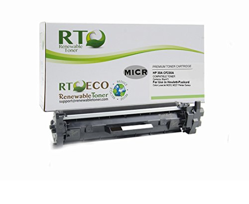 Renewable Toner Compatible MICR Toner Cartridge Replacement for HP 30A CF230A for Laserjet M203 M227