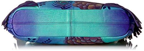 Hobo 8246 Anuschka Handpaint Fringed LR peacock Garden Pkg Pkg xqCa6H