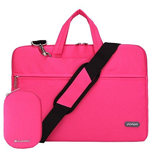 Laptop Shoulder Bag, 12 - 13.3 Inch Laptop Case, Slim Briefcase Computer Bag Business Carry Messenger Bag Waterproof Notebook Sleeve For Macbook Lenovo ASUS Dell Acer Samsung Chromebook 13 - Pink (Laptop Case Pink Carry)